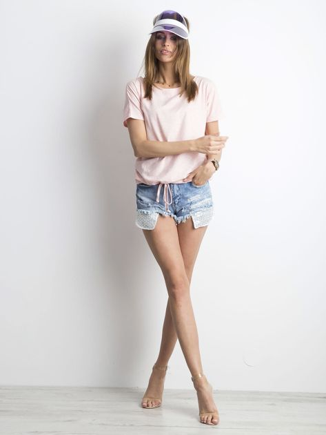 Różowy melanżowy t-shirt Curiosity                              zdj.                              4