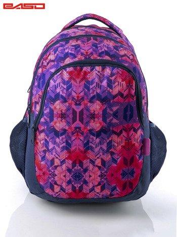 Różowy plecak szkolny dla dziewczynki z etnicznym motywem                              zdj.                              1