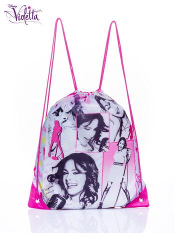 Różowy plecak worek DISNEY Violetta                                  zdj.                                  1