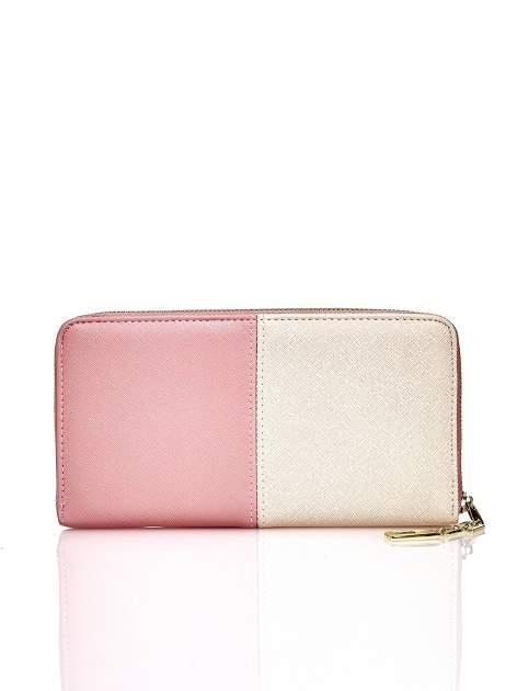 Różowy portfel two tone z uchwytem                                  zdj.                                  2