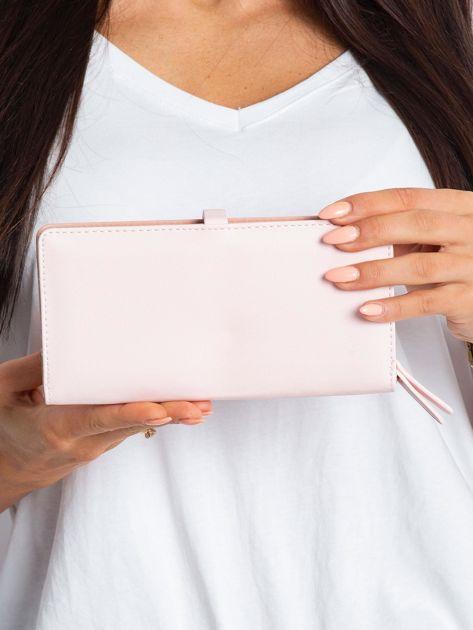 Różowy portfel z ekoskóry                              zdj.                              2