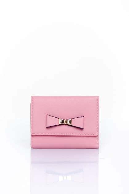 Różowy portfel z kokardką