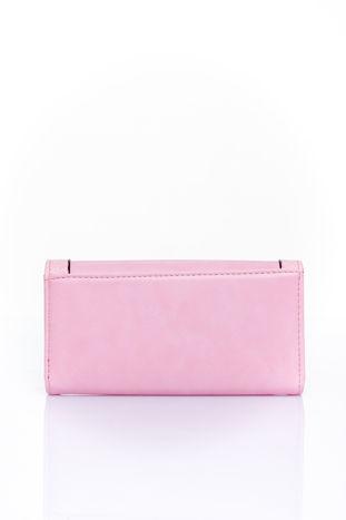 Różowy portfel z motywem skóry aligatora                                  zdj.                                  2
