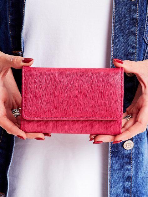 Różowy portfel ze skóry ekologicznej