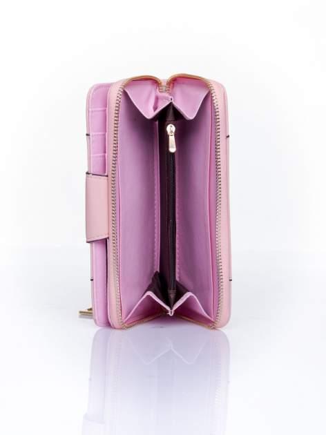 Różowy portfel ze złoconą klamrą                                  zdj.                                  5