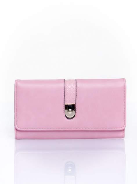 Różowy portfel ze złotym zapięciem                                   zdj.                                  1