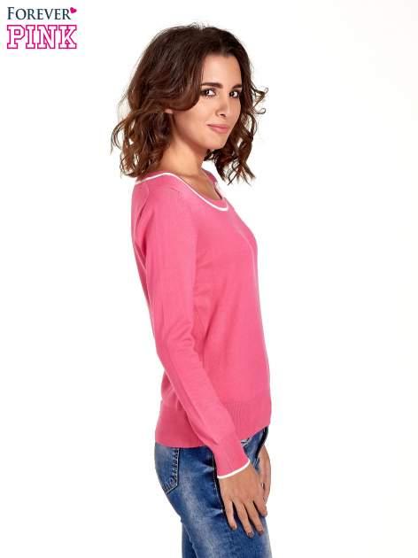 Różowy sweterek z kokardką przy dekolcie                                  zdj.                                  3