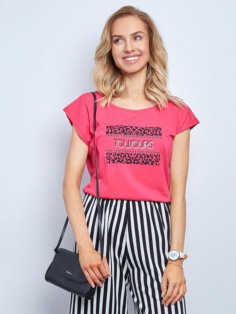 Różowy t-shirt Fasten