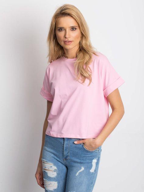 Różowy t-shirt Woodland                              zdj.                              1