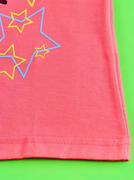 Różowy t-shirt dla dziewczynki HELLO KITTY z gwiadkami                                  zdj.                                  5