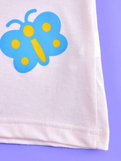 Różowy t-shirt dla dziewczynki nadruk HELLO KITTY                                  zdj.                                  5