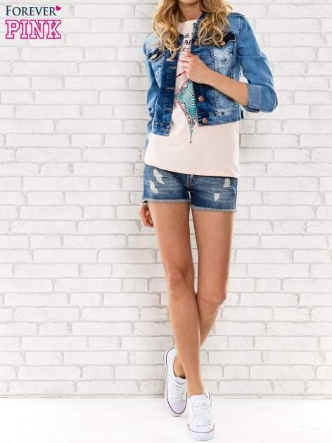 Różowy t-shirt z napisem SHE SAYS BABE YOU LOOK SO COOL XX                                  zdj.                                  5