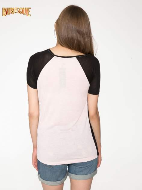 Różowy t-shirt z napisem TOGETHER IS MY FAVOURITE PLACE TO BE                                  zdj.                                  4