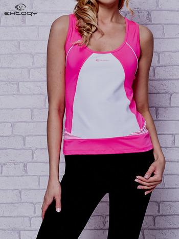 Różowy top sportowy na fitness                                  zdj.                                  1