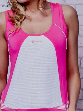Różowy top sportowy na fitness                                  zdj.                                  5