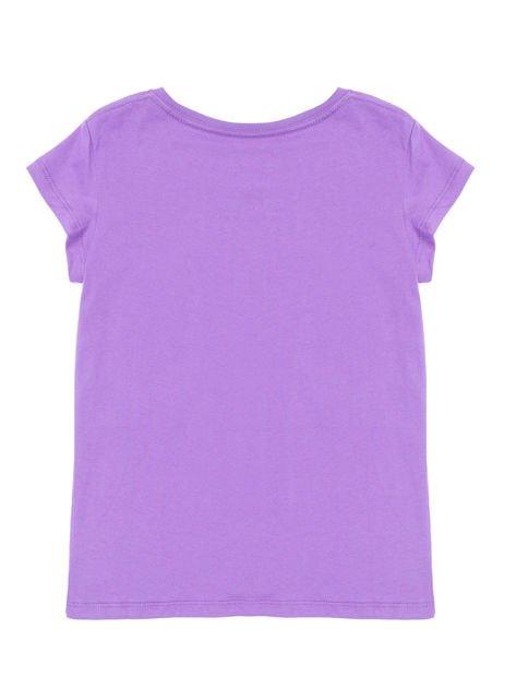 SALOMON Fioletowy t-shirt dla dziewczynki                              zdj.                              2