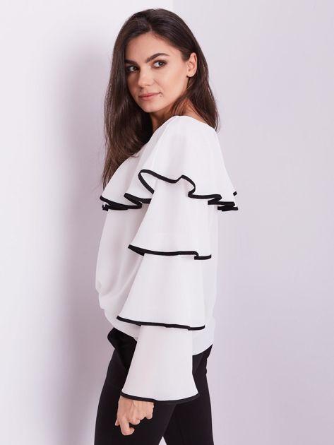 Biała bluzka z falbanami                              zdj.                              5