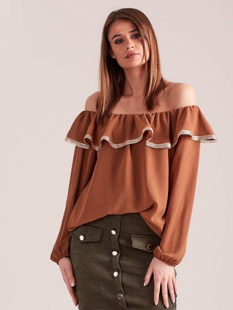 Brązowa bluzka hiszpanka                              zdj.                              4