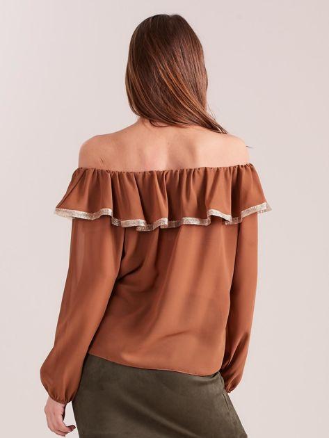 SCANDEZZA Brązowa bluzka hiszpanka                              zdj.                              3