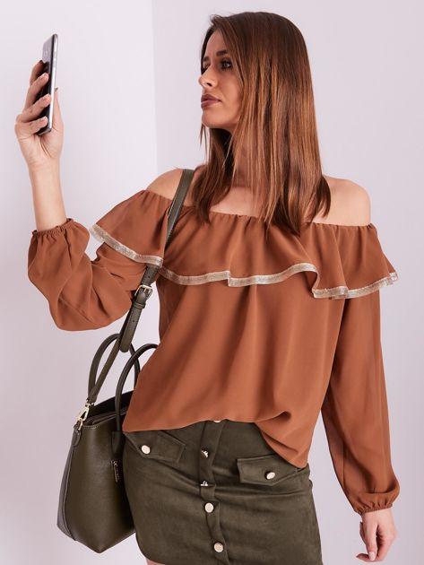 SCANDEZZA Brązowa bluzka hiszpanka                              zdj.                              7