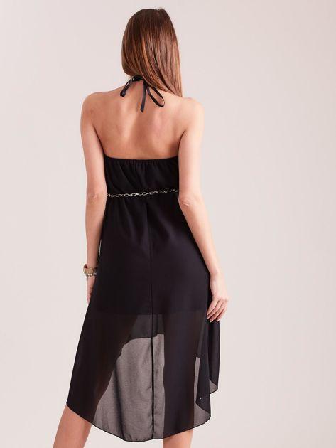 Czarna sukienka z aplikacją                              zdj.                              4