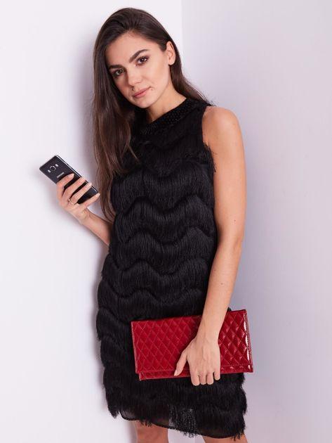 Czarna sukienka z frędzlami                               zdj.                              13