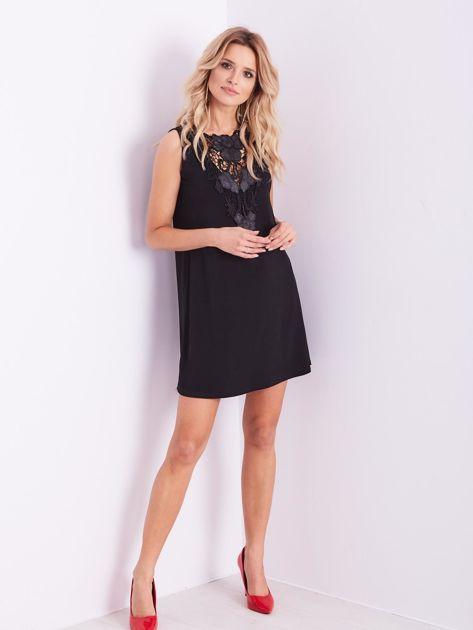 Czarna sukienka z koronką                              zdj.                              1