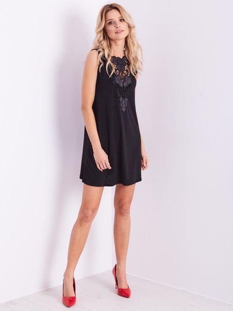 Czarna sukienka z koronką                              zdj.                              13