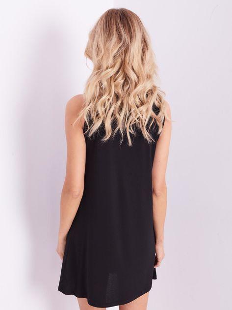 Czarna sukienka z koronką                              zdj.                              10