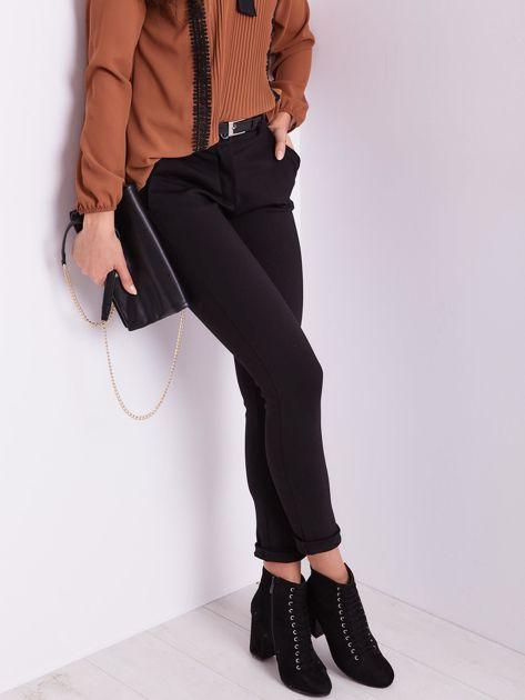 Czarne spodnie damskie                              zdj.                              6