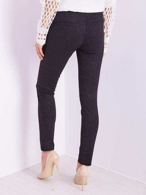 Czarne spodnie w delikatne groszki                              zdj.                              9