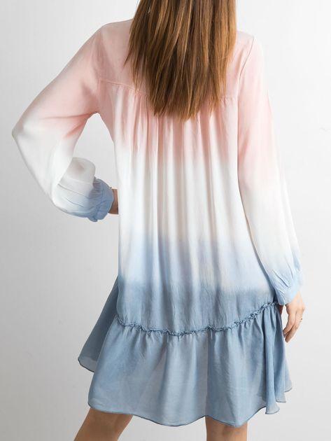 Jasnoróżowa sukienka ombre                               zdj.                              2