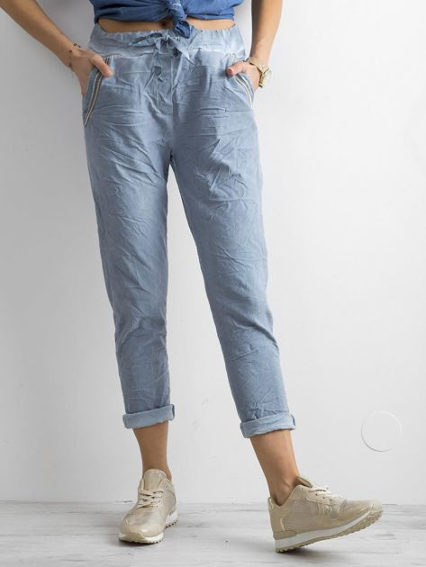 Niebieskie spodnie damskie                              zdj.                              1