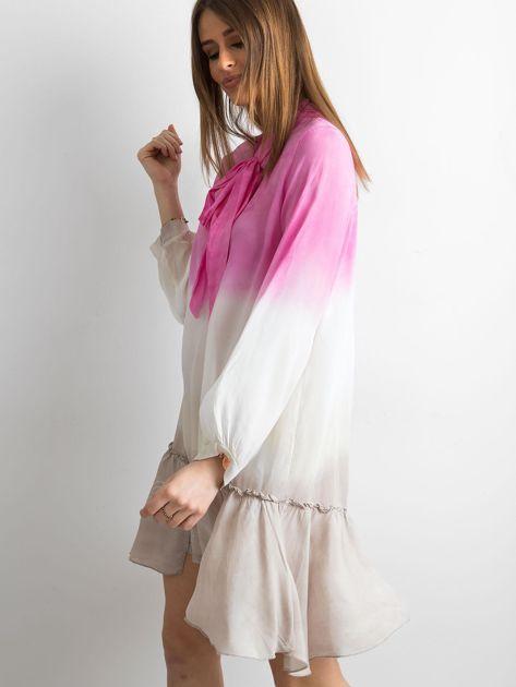 Różowa sukienka ombre                               zdj.                              3