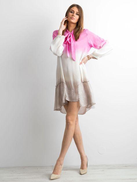 Różowa sukienka ombre                               zdj.                              4
