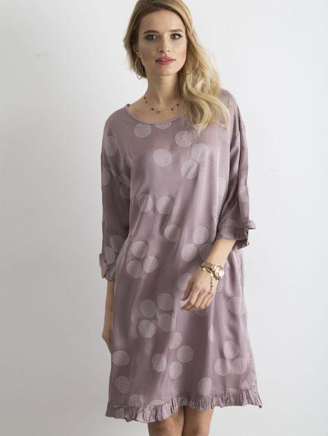 Sukienka we wzory fioletowa                               zdj.                              3