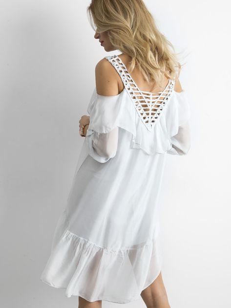 Szara zwiewna sukienka                              zdj.                              2
