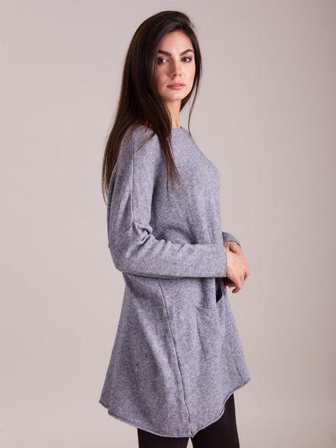 Szary długi sweter                              zdj.                              5