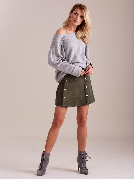 Szary dzianinowy sweter                              zdj.                              1