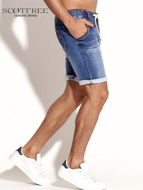 SCOTFREE Niebieskie jeansowe szorty męskie                              zdj.                              7