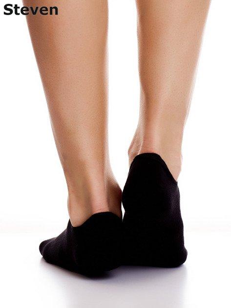 STEVEN Czarne stopki bawełniane z folkowym detalem                              zdj.                              3