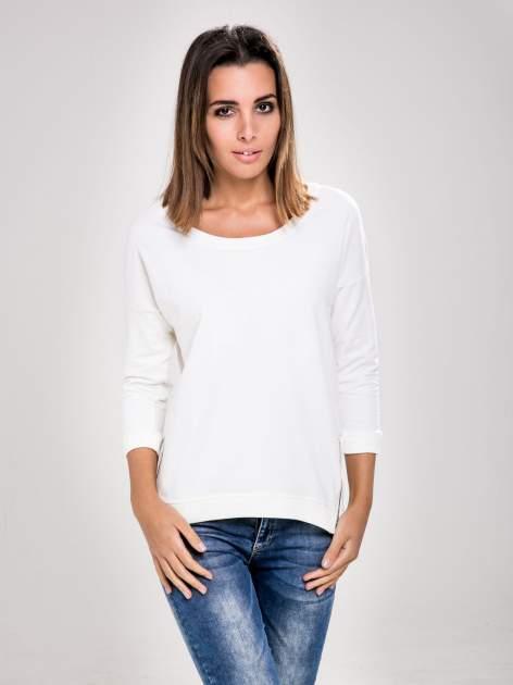 STRADIVARIUS Biała bluza z zamkami                                  zdj.                                  1