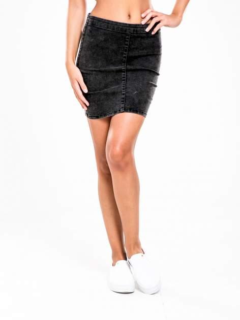 STRADIVARIUS Czarna spódnica mini z denimu