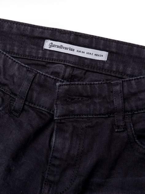 STRADIVARIUS Czarne spodnie typu skinny jeans z przetarciami                                  zdj.                                  3