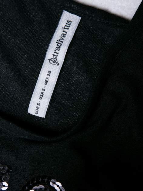 STRADIVARIUS Czarny top z napisem PERFECT z cekinów                                  zdj.                                  3