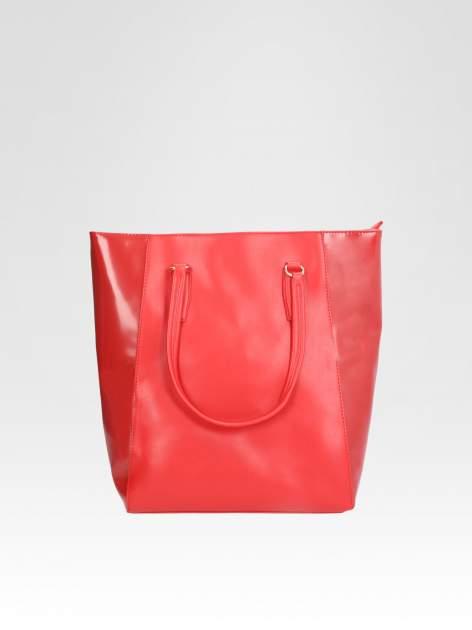 STRADIVARIUS Czerwona torba shopper bag                                  zdj.                                  2