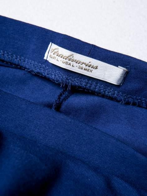 STRADIVARIUS Granatowe legginsy basic długości 3/4                                  zdj.                                  3