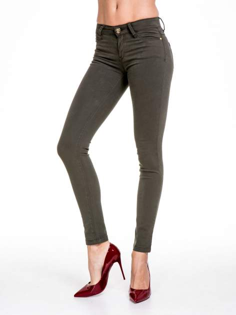 STRADIVARIUS Khaki spodnie skinny typu rurki                                  zdj.                                  1