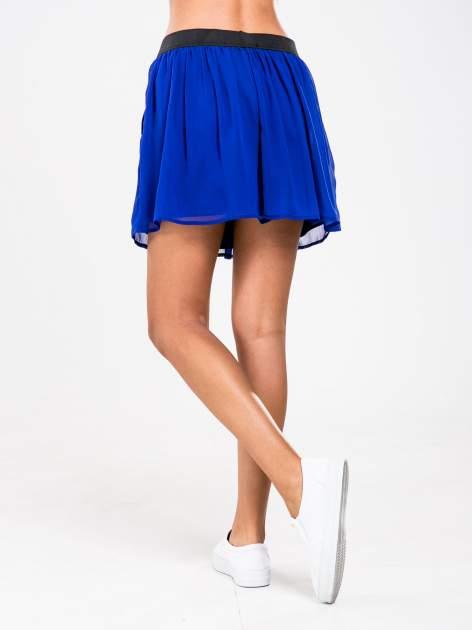 STRADIVARIUS Kobaltowa spódnica mini                                  zdj.                                  2