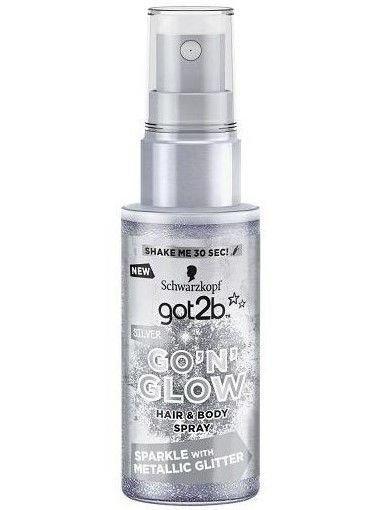 """Schwarzkopf Got 2b Go'N'Glow Spray rozświetlający do włosów i ciała Silver 50ml"""""""
